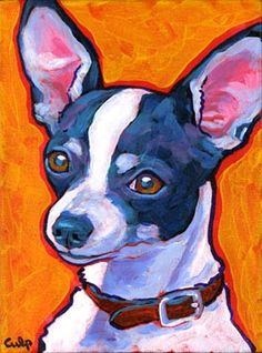 Lynn Culp - Black and White Chihuahua Chihuahua Drawing, Chihuahua Art, Cartoon Kunst, Cartoon Art, Dog Pencil Drawing, Legos, Cartoon Drawings Of Animals, Animal Paintings, Acrylic Paintings