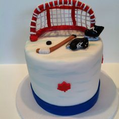 Hockey cake for fraser ....