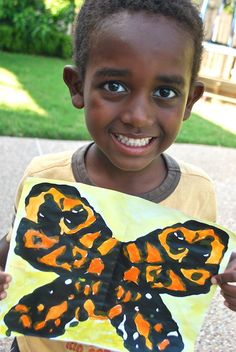 Monarch Butterfly Painting- Kid World Citizen