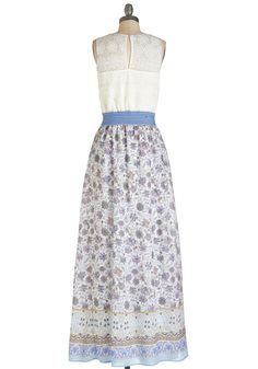 In the Early Morning Flowers Dress. Welcome the rising sun with a smile as you slip into this cheerful floral maxi.  #modcloth