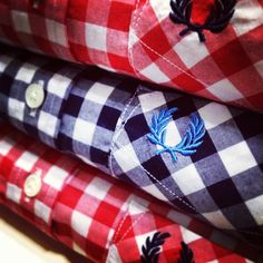Fred Perry gingham checks