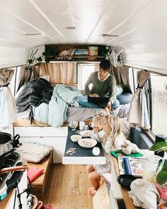 What time of the day do you attempt to do your tidy up if at all? The kids love this space after we pack up their beds. Its perfect for the morning inside playtime while we can do a mostly uninterrupted clean up . Van Interior, Bus Conversion, Truck Camper, Life Pictures, Tidy Up, Van Life, Tiny House, Beds, Space