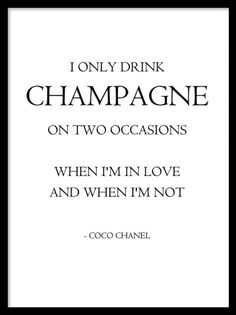 Coco chanel quote. More fashion and typographical posters can be found at desenio.se