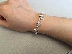 Cubic zirconia armband bruids armband armband van de door terihuang