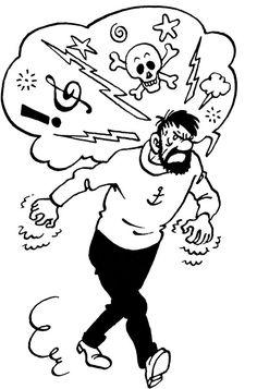 The Adventures of Tintin and the Horrific World of H. Haddock Tintin, Tin Tin Cartoon, Captain Haddock, Herge Tintin, Comic Art, Comic Books, Ligne Claire, Bd Comics, Illustrations