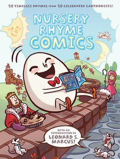 Fifty nursery rhymes, fifty cartoonists.  My 6-yr-old read these to her 3-yr-old sister and they were occupied for an hour, laughing and making discoveries in the illustrations as they read.  We were sad to return this to the library!