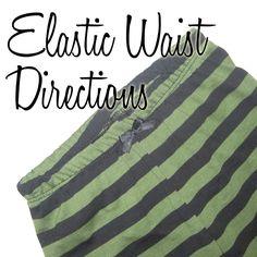 the Jocole blog: Elastic Waist Directions