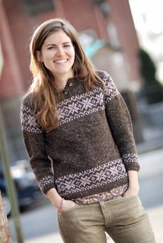 BrooklynTweed | Stilwell fitted raglan sweater knitting pattern