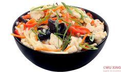 Pui cinci culori (cu legume) Japchae, Thai Red Curry, Ethnic Recipes, Food, Essen, Meals, Yemek, Eten