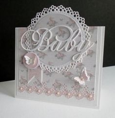 Butterfly Baby by sistersandie - Cards and Paper Crafts at Splitcoaststampers ~ Wendy Schultz ~ Baby Cards Baby Girl Cards, New Baby Cards, Pretty Cards, Cute Cards, Butterfly Baby, Butterfly Cards, Beautiful Handmade Cards, Marianne Design, Card Tags