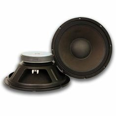 Seismic Audio Pair of Raw Woofers Speakers Drivers PA DJ Replacement PRO Audio 4 ohms - Woofer Speaker, Sound Stage, Sensitivity, Steel Frame, Musical Instruments, Studios, Cabinet, Paper