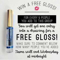 Add your friends to my Facebook group for a chance at free gloss! Link in bio!