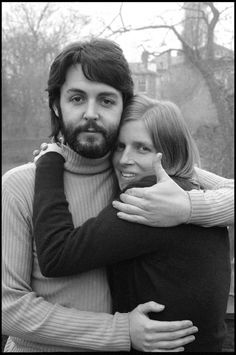 Paul and Linda McCartney. What a lucky gal.