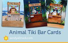Animal Tiki bar cards | Sandy Allnock