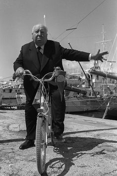 Alfred Hichcock biking....:)