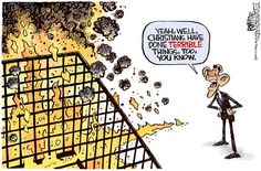 Islamists burn a man alive in a cage & #Obama points to...#Christians.