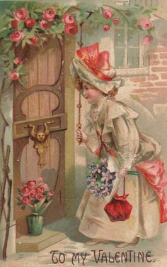 Victorian Valentine and Vintage Cards My Sweet Valentine, Valentine Images, Vintage Valentine Cards, Vintage Greeting Cards, Vintage Holiday, Valentine Day Cards, Vintage Postcards, Happy Valentines Day, Vintage Images