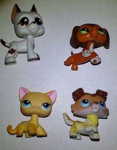 Littlest pet shop☆dane☆collie☆dachshund☆Ranch cat dog☆675☆577☆339☆58☆lps☆popular #Hasbro