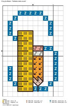 alfabeto della scuola S