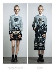 ANNE SOFIE MADSEN - amazing digitally printed illustration, i like the use of artwork at a fashion print