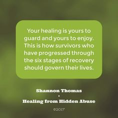 Recovery from psychological abuse is possible.  Healing from Hidden Abuse: A Journey Through the Stages of Recovery from Psychological Abuse is available on Amazon (Paperback, Kindle and Audio book)  Also at Barnes & Noble, Smashwords & iBook