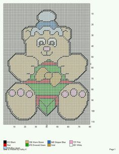 BEAR & PRESENT by KATHY K. -- WALL HANGING