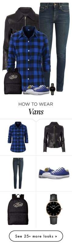 """blue"" by divacrafts on Polyvore featuring Alexander Wang, Yves Saint Laurent, Converse, Vans, CLUSE and Original"