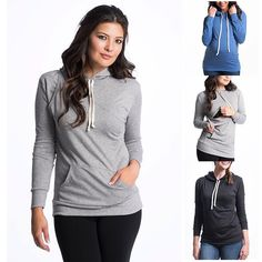 Bun Maternity Cozy Up Nursing Hoodie. Nursing in public and breastfeeding style that is cute as well as comfy.
