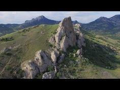 Кара-Даг, Коктебель. Вид на потухший вулкан с высоты птичьего полета. - YouTube