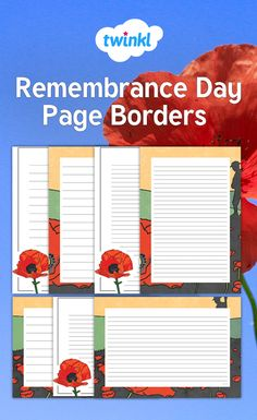 these remembrance day page borders are the perfect resource to support independent writing tasks in line