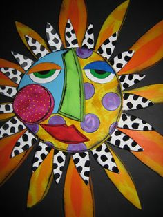 Large whimsical sun