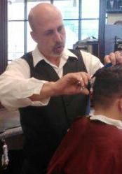 Tim shaping yet another canvas at Gino's Classic Barbers