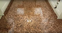 The UK Penny Floor Project via @diythought