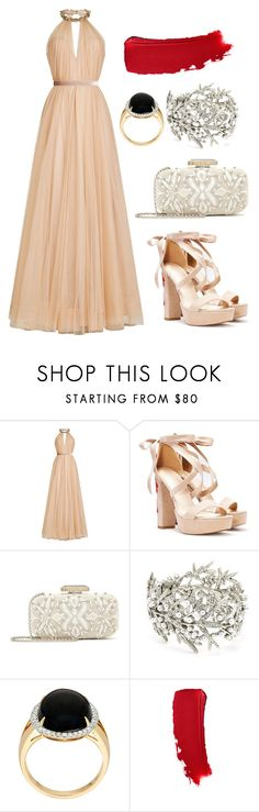 """""""fixed by f"""" by wanderlustpan ❤ liked on Polyvore featuring Jenny Packham, Nasty Gal and Oscar de la Renta"""