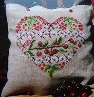 Cherries – French Needlework Kits, Cross Stitch, Embroidery, Sophie Digard – The French Needle Cross Stitch Fruit, Cross Stitch Heart, Cross Stitch Flowers, Embroidery Applique, Cross Stitch Embroidery, Cross Stitch Designs, Cross Stitch Patterns, Cross Stitch Pillow, Needlepoint Designs
