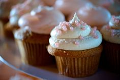 Pink champagne wedding cupcakes