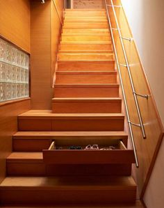 stair drawers....genius unless someone leaves them open??!!