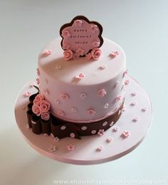 Strawberry Lane Cake Company specialises in unique bespoke wedding cakes, celebration cakes and speciality confections Gorgeous Cakes, Pretty Cakes, Fondant Cakes, Cupcake Cakes, Simple Elegant Cakes, Lane Cake, Daisy Cakes, Flower Cakes, Pink Birthday Cakes
