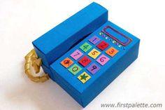 Como hacer un divertido telefono con una caja