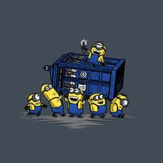 Minions Have the Phone Box by onebluebird - Shirt sold on September 5th at teefury.com - More by the artist at www.facebook.com/...