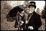 M and J Steampunk costumes 01 by *Majoh