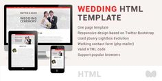 See More Wedding one page html templateyou will get best price offer lowest prices or diccount coupone Free Website Templates, Template Site, Html Templates, Best Wedding Websites, Affordable Wedding Invitations, Wedding Table Decorations, Wedding Templates, First Page, Wedding Gallery
