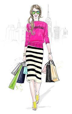 Fashion Illustrations:SHOPERHOLIC