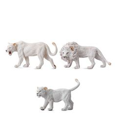 This White Lion Family Figurine Set by CollectA  is perfect! #zulilyfinds
