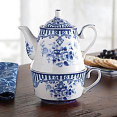 Blue Flower Tea-for-one Set