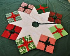 RESERVED FOR KIMBERLEY Christmas Tree Skirt by knitonestitchtoo