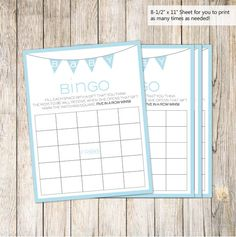 A personal favorite from my Etsy shop https://www.etsy.com/listing/216311868/baby-bingo-blue-baby-shower-85-x-11
