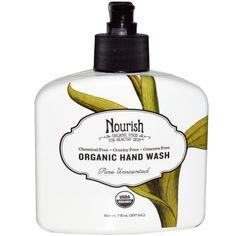 Nourish Organic, Hand Wash, Pure Unscented, 7 fl oz (207 ml) (Discontinued Item)