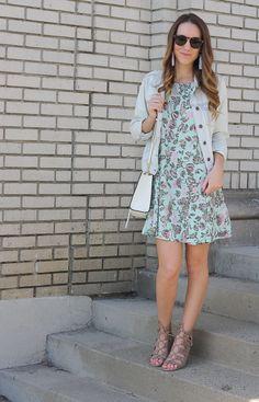Floral Swing Dress | Twenties Girl Style