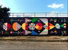 Artist: REMED & Yollocalli Arts Reach Location: Street and (East) Ashland Avenue Street Art - Pilsen- Graffiti Art Urban Street Art, Best Street Art, Graffiti Art, Urban Graffiti, School Murals, Sidewalk Art, Mural Wall Art, Mexican Art, Outdoor Art